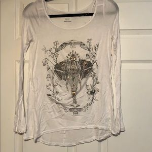 Fitted long sleeve elephant shirt